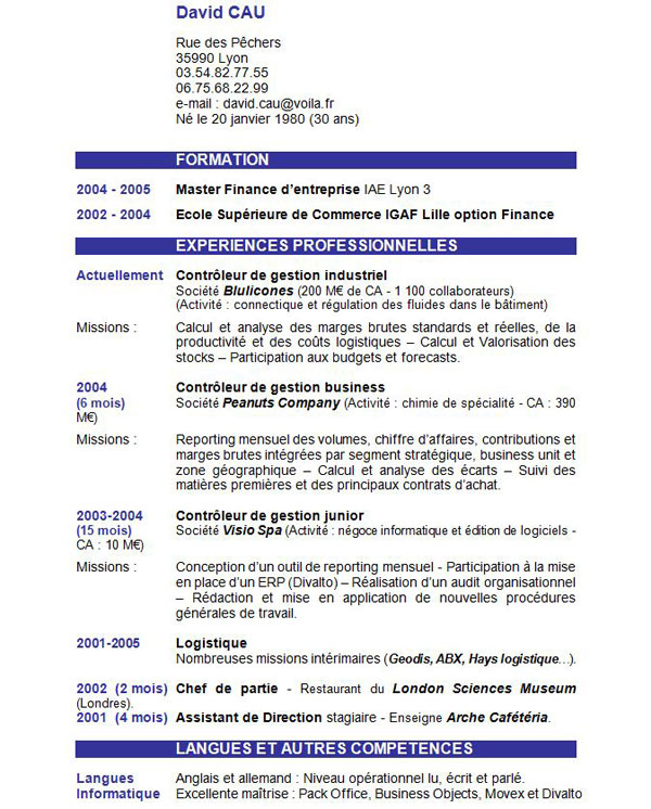 introduction cv exemple